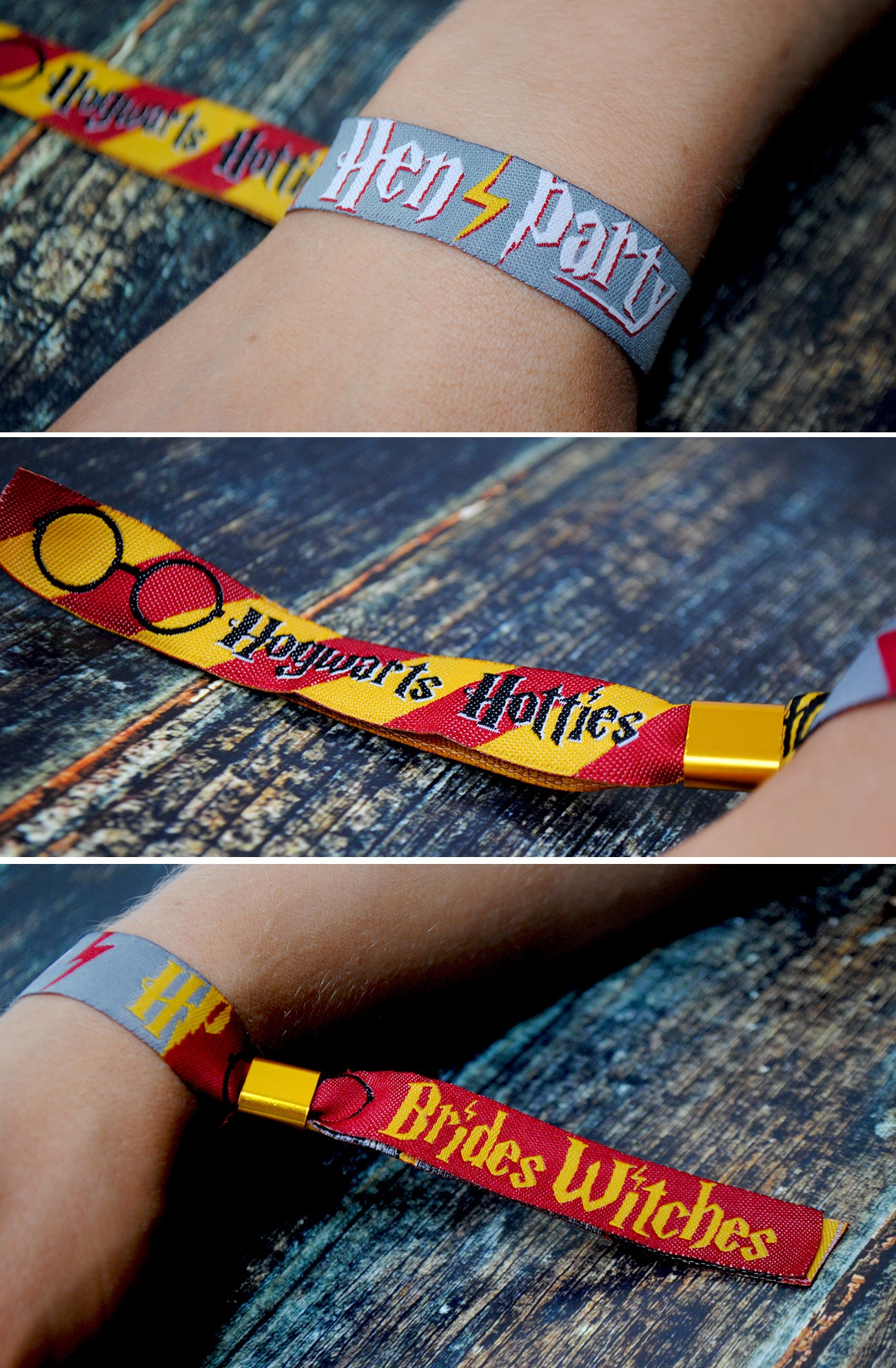 harry potter hen party wristband favours