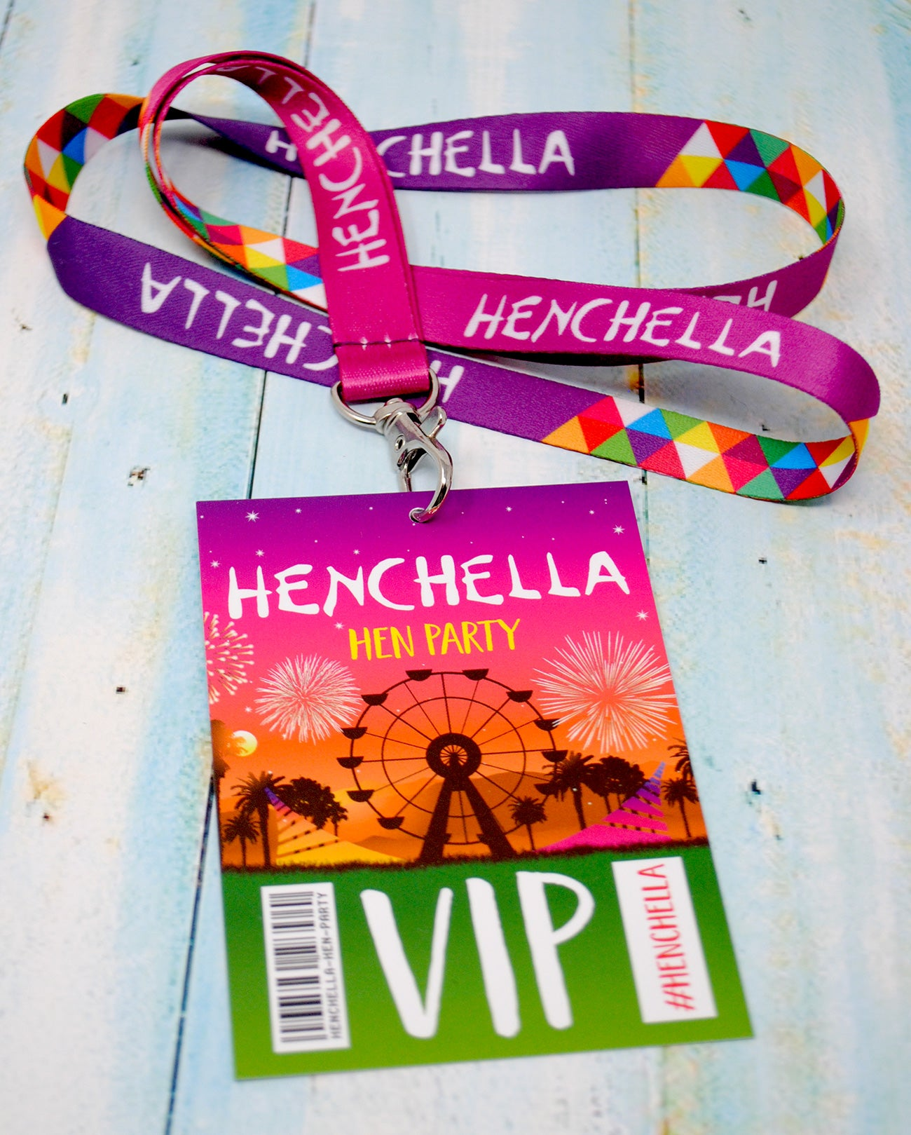 henchella hen party vip pass lanyard accessories