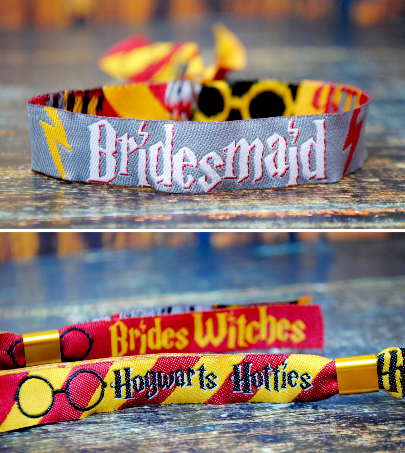 hogwarts hotties harry potter bridesmaid wristband hen party