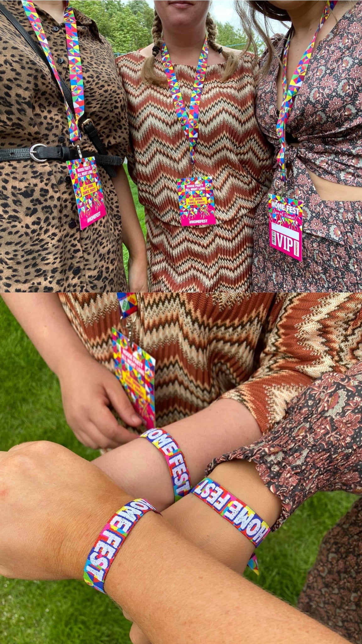 home fest festival party at home lanyards wristbands