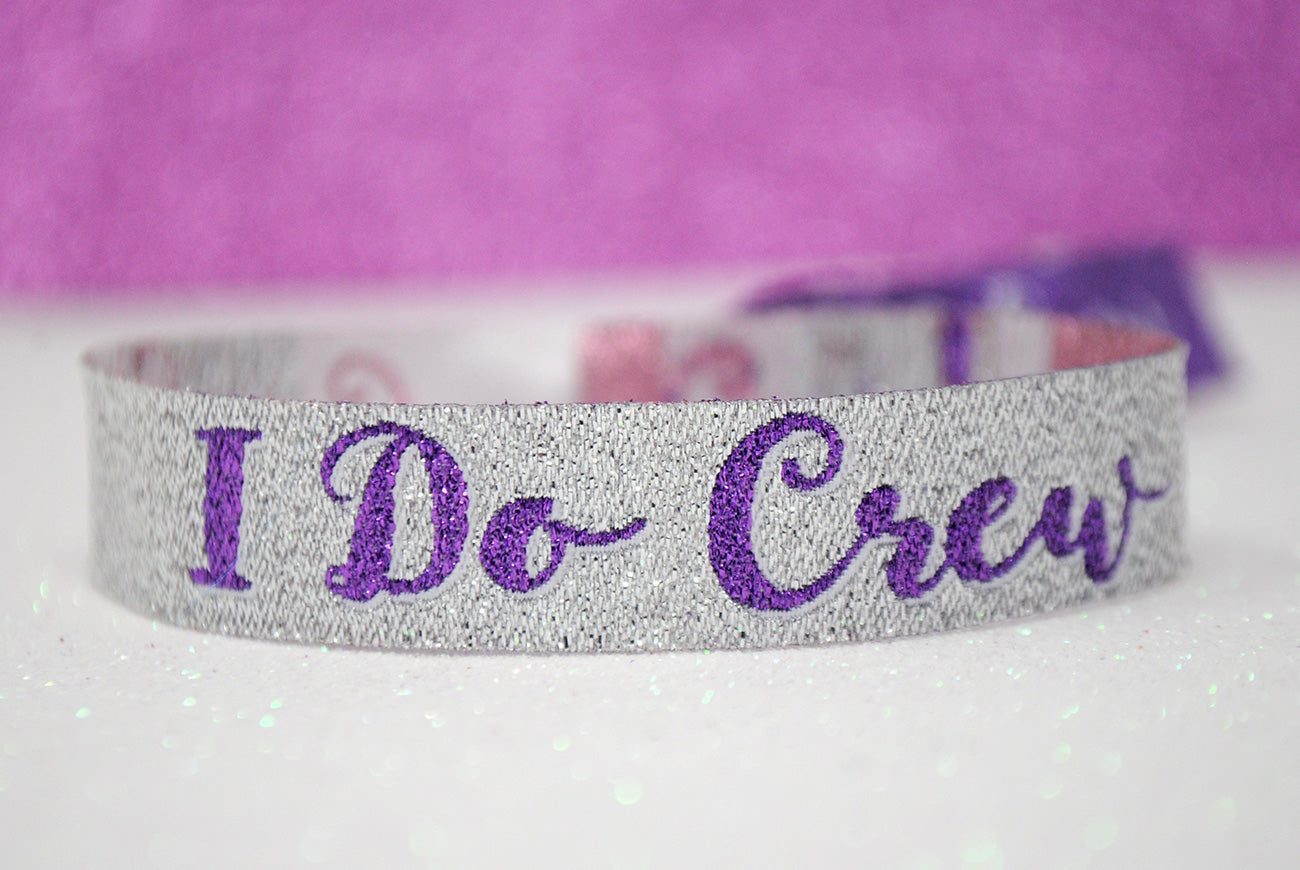 i do crew hen do party wristbands favours
