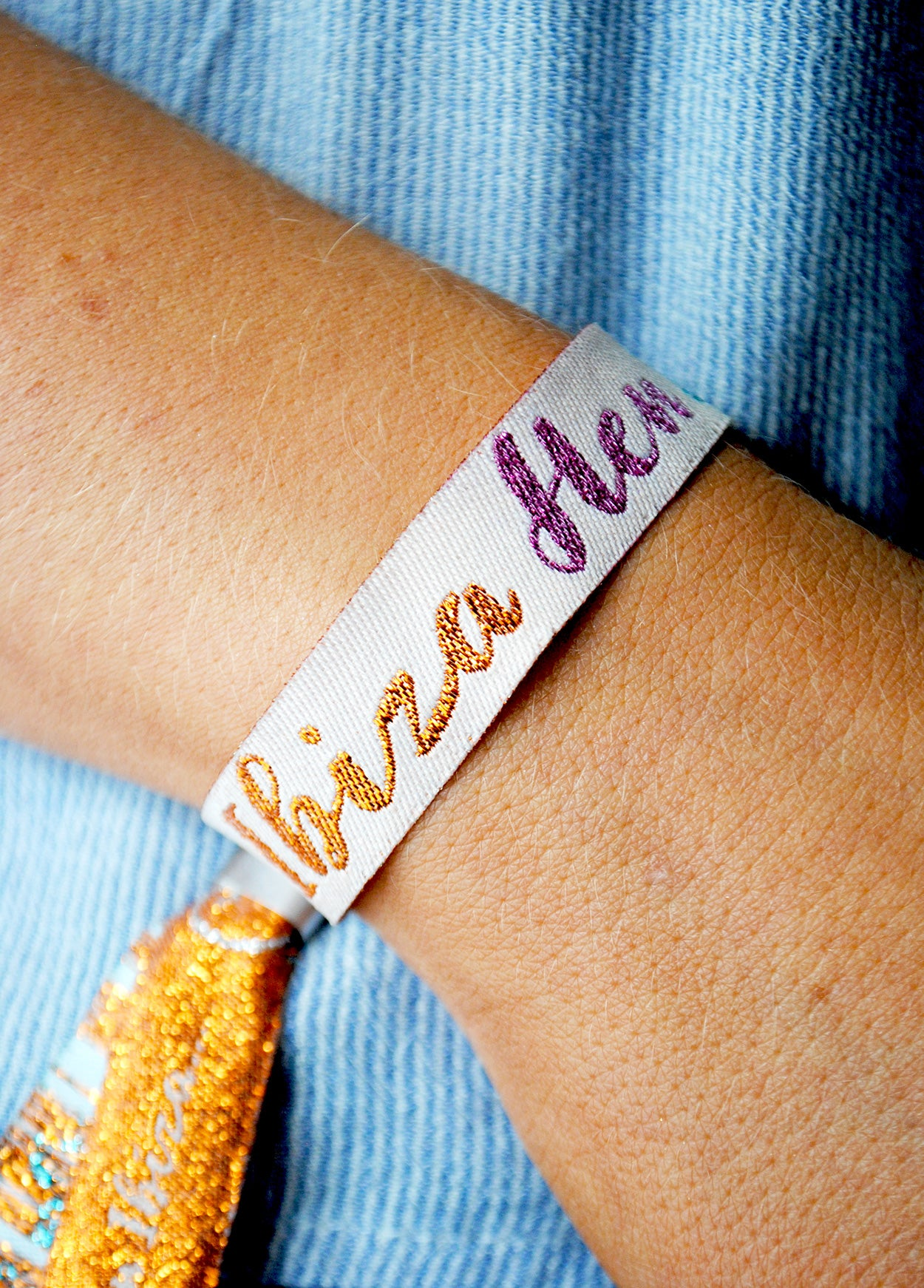 ibiza hen do wristband favours accessories