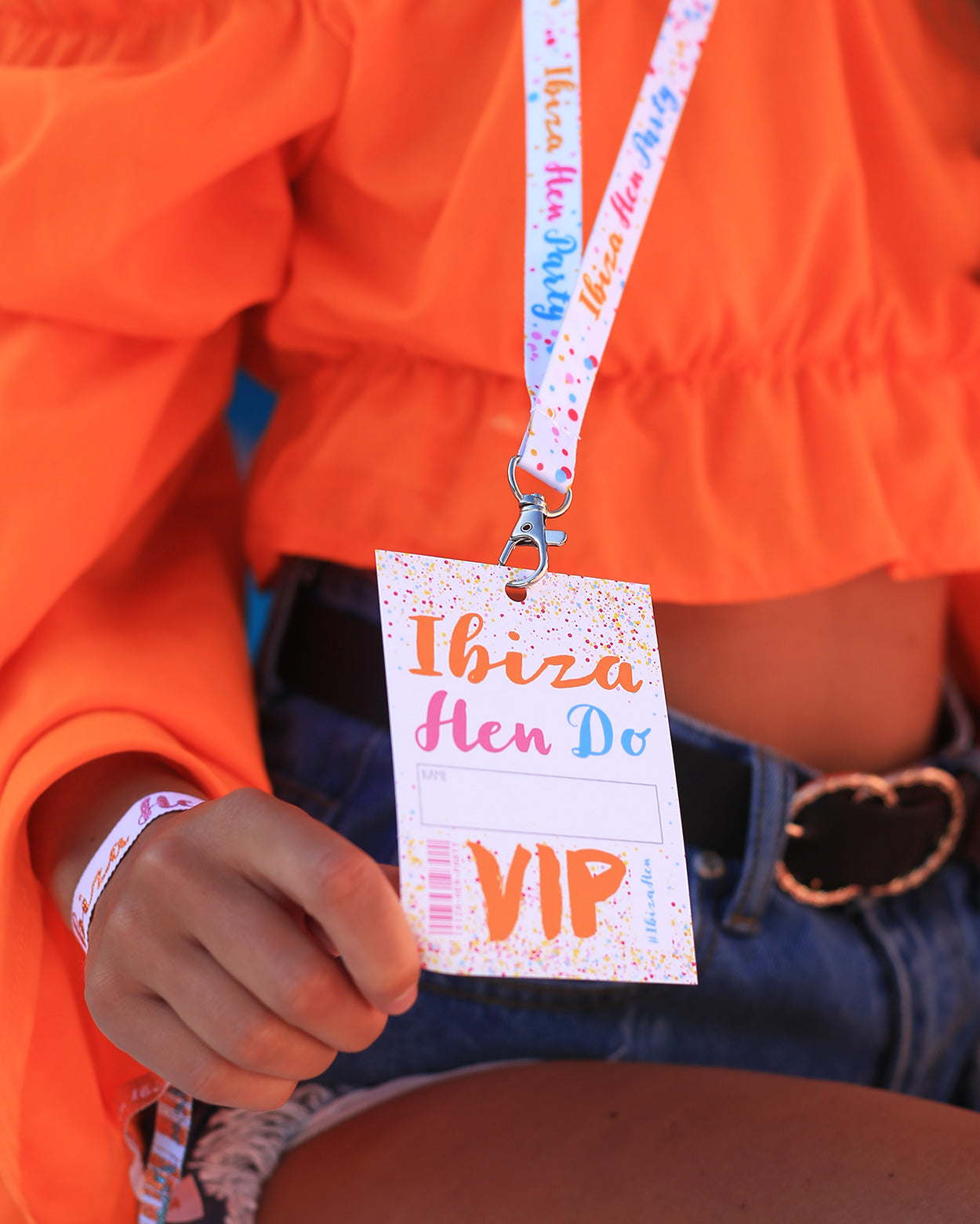 ibiza hen party lanyard vip pass favours accessories ideas