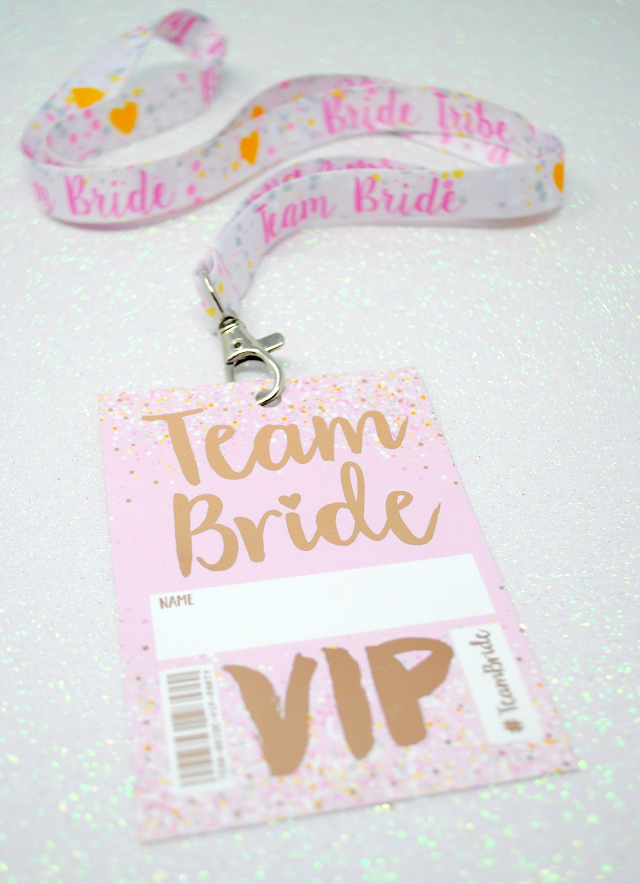 rose gold team bride hen party vip pass lanyards favours