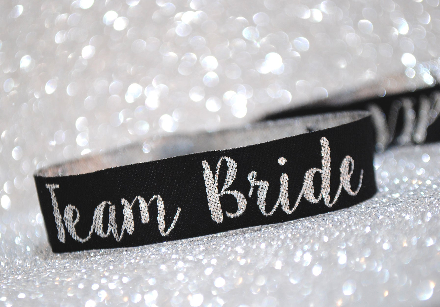 silver team bride hen party wristbands
