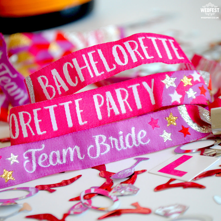 team bride bachelorette party wristband
