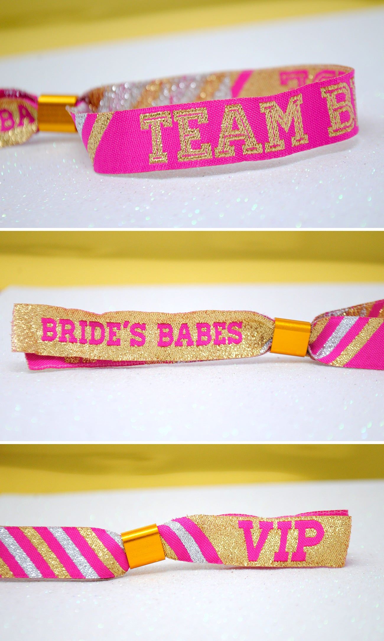 team bride brides babes hen party cheerleader wristbands