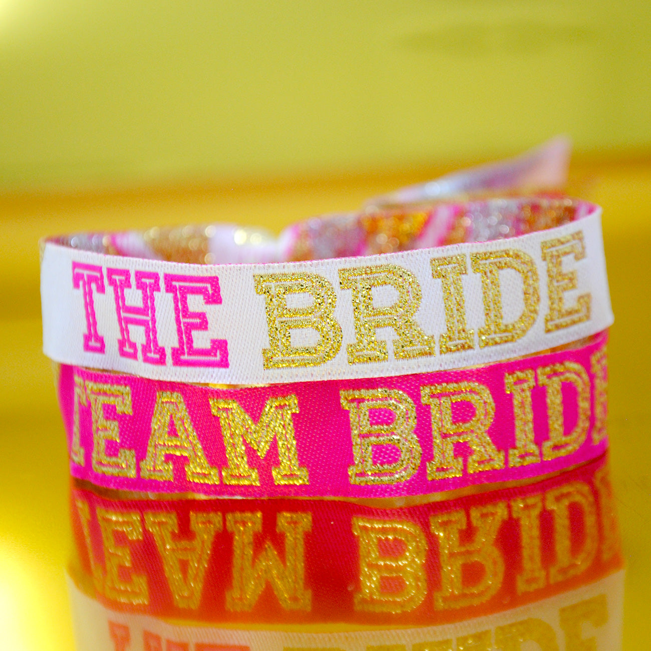 team bride hen party cheerleader wristbands