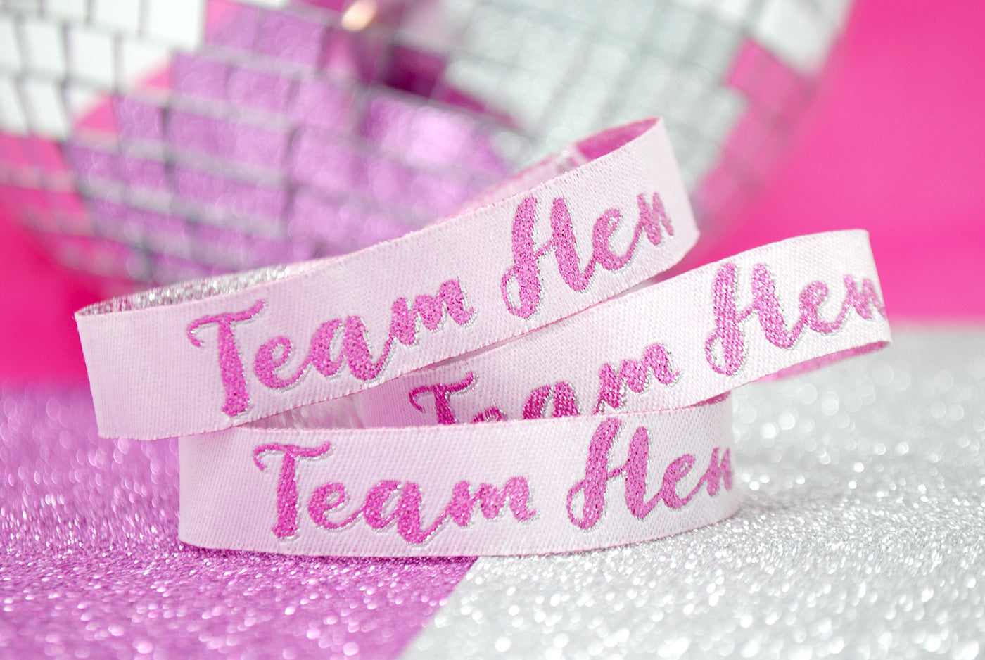 team hen hen party wristband party bag favours