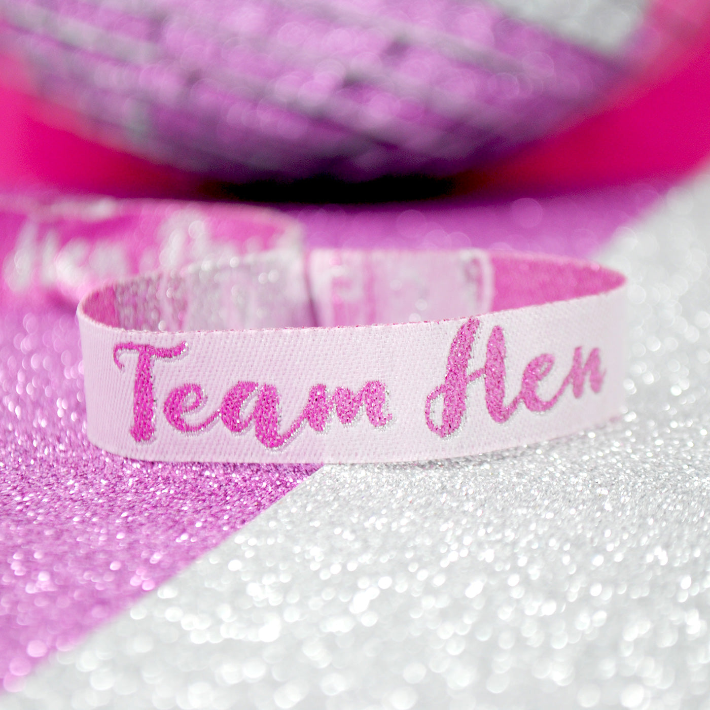 team hen party wristband favours