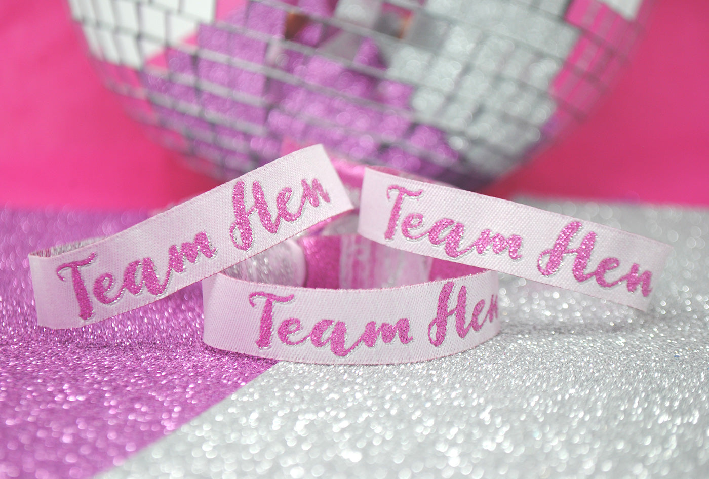 team hen party wristbands party bag favours