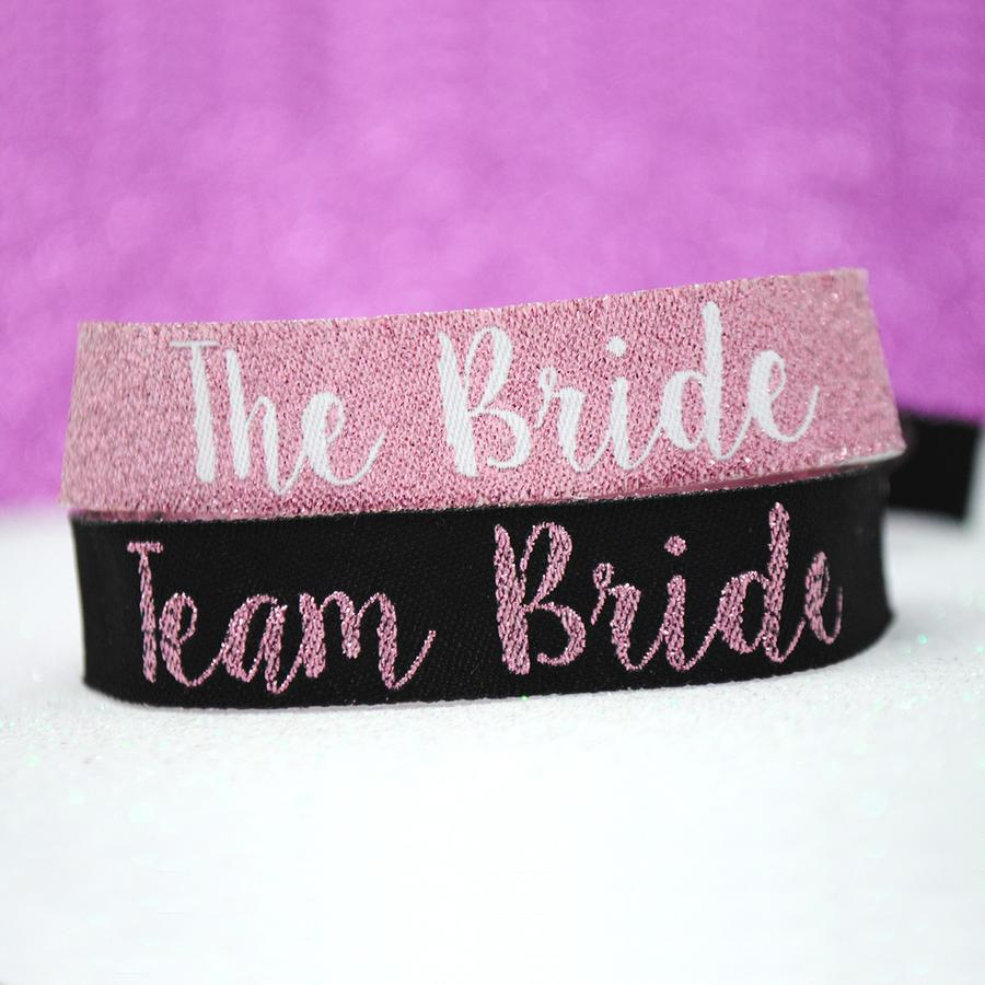 rose gold team bride hen party wristband accessories