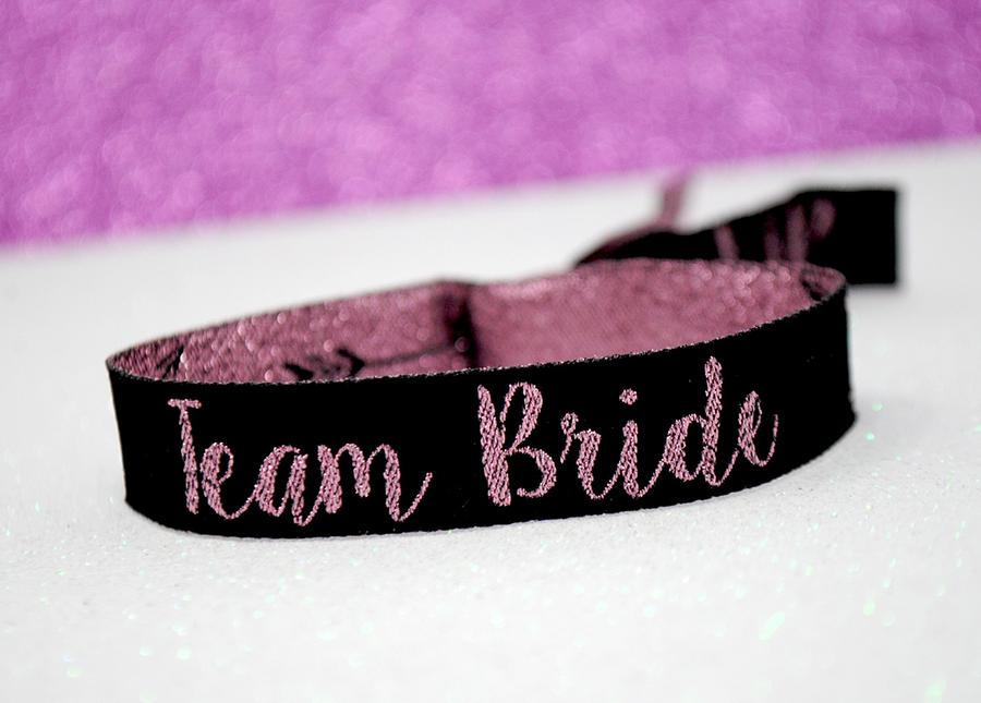 rose gold team bride hen party accessories