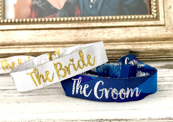 Bride and Groom Wedding Day wristbands