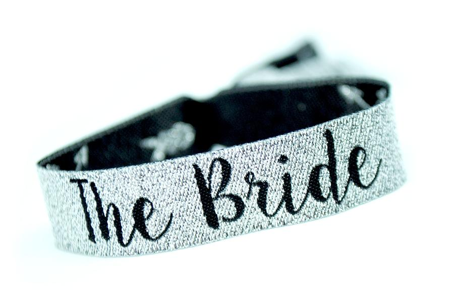 team bride silver black bachelorette party accessories
