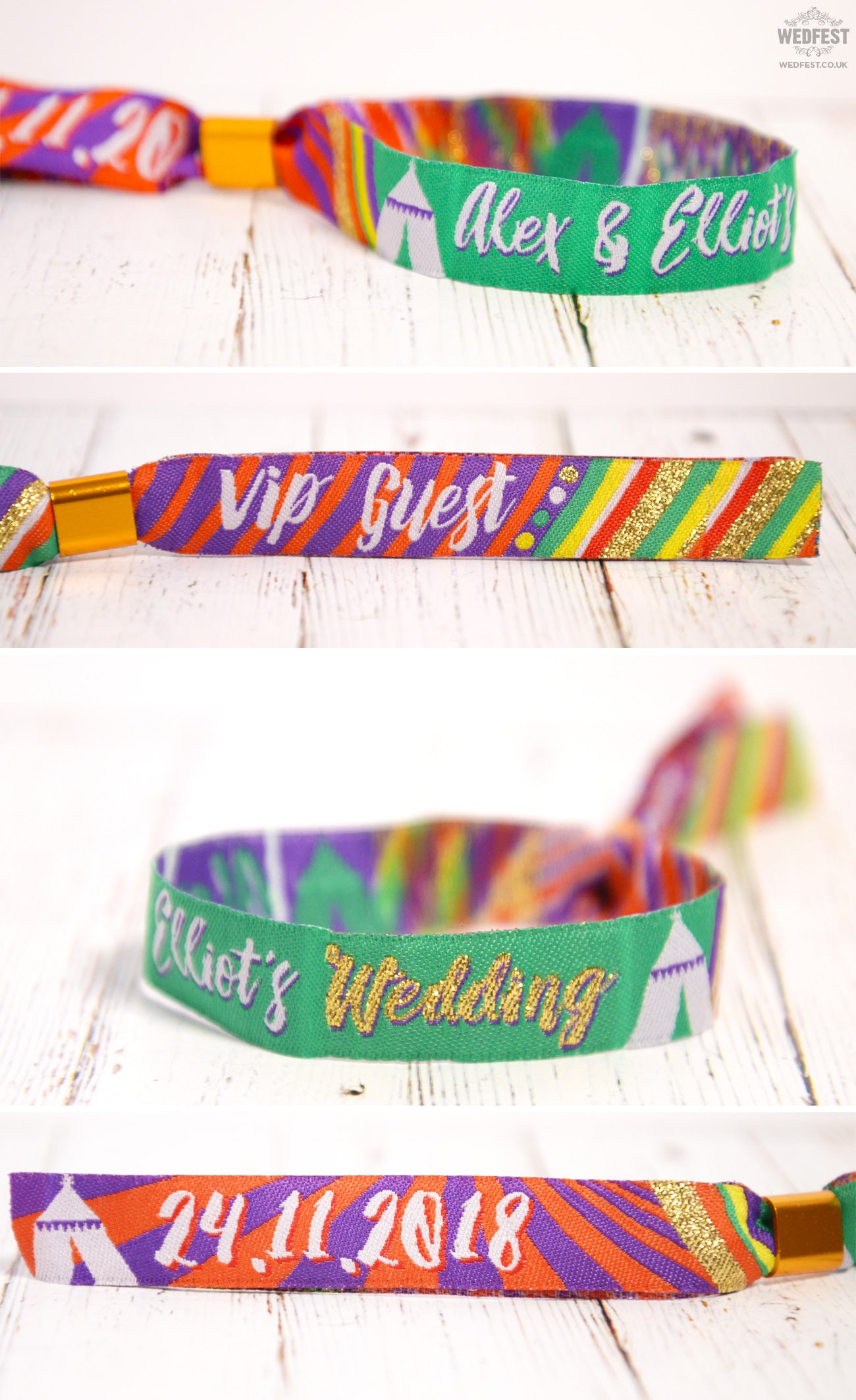personalised festival wedding wristbands manufacturer