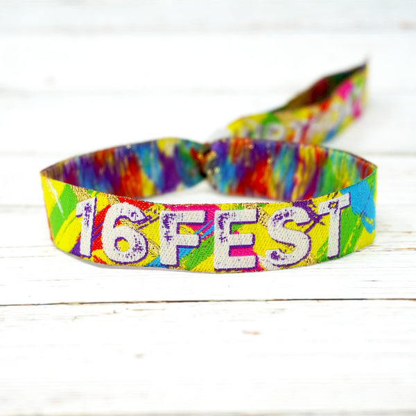 16th birthday party wristbands favours festival wristbands