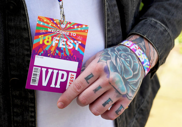18fest 18th birthday party festival vip lanyard favour