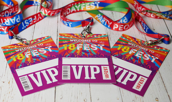 18th birthday party festival accessories neck lanyards