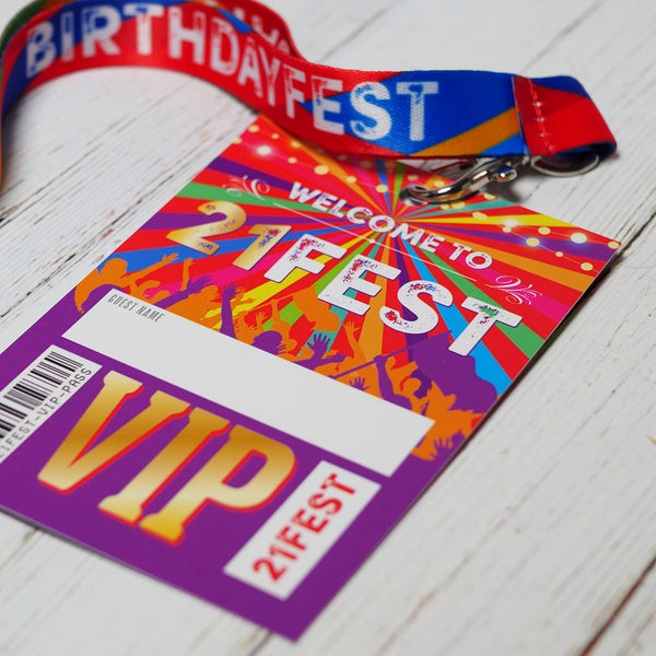 21 fest 21st festival birthday party lanyard accessories
