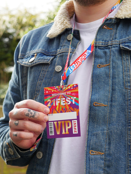 21 fest 21st festival birthday party lanyard favours