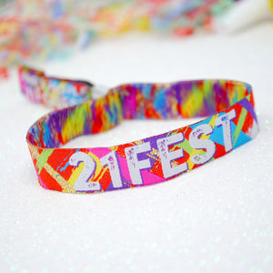 21FEST 21st Birthday Party Festival Wristbands