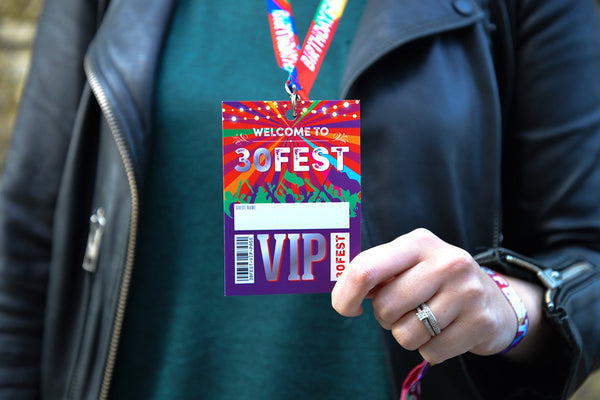 30 FEST festival 30th birthday party vip pass lanyard favours