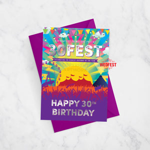 30fest festival theme 30th birthday card