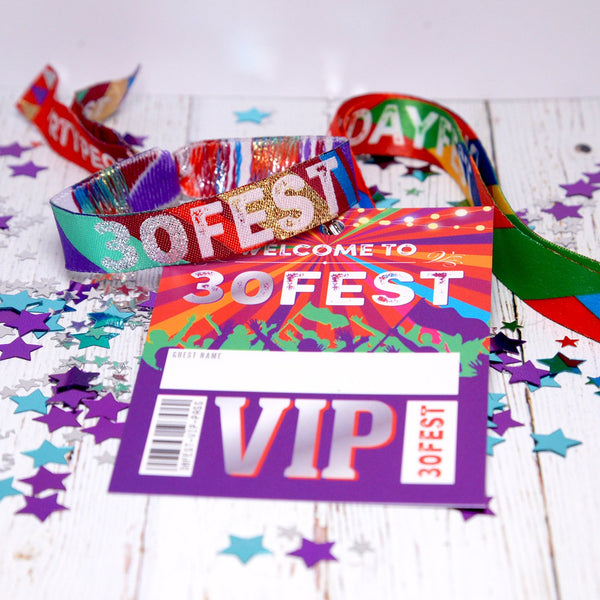 30fest festival birthday party lanyards wristbands