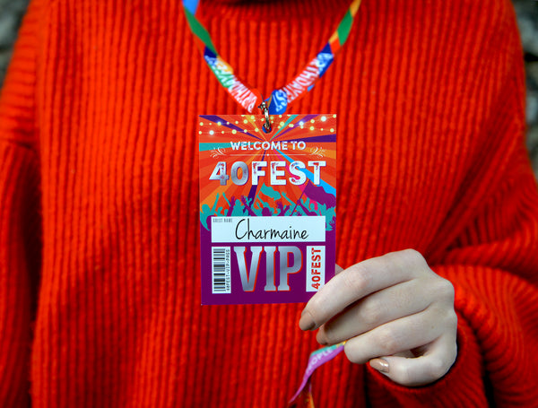 40fest 40th festival birthday party vip pass lanyards