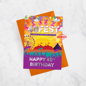 40FEST festival theme 40th birthday card forty fesT