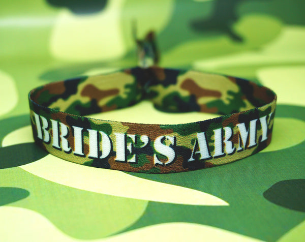 brides army theme hen party night wristbands accessories