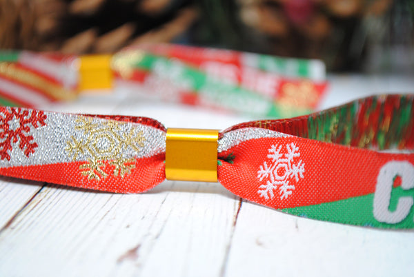 Christmas Party Festival Wristbands Favours