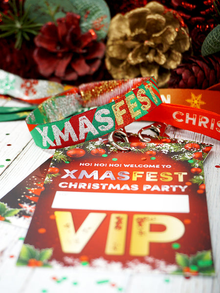 XMASFEST christmas party festival vip lanyards wristbands