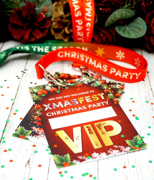 XMASFEST christmas party festival vip lanyards