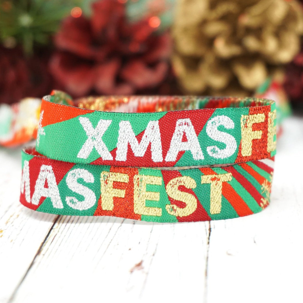 XMASFEST christmas party festival wristbands homefest