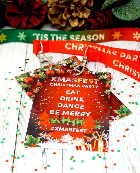 XMASFEST christmas party lockdown festival vip lanyards favours