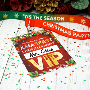 XMASFEST christmas party vip lanyard