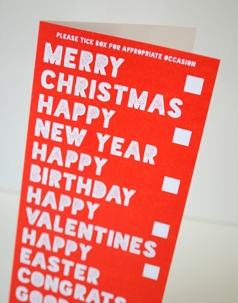 multi occasions christmas valentines birthday card, tesco poundland birthday valentines christmas card