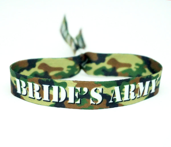 team bride camouflage army hen party bracelets WRISTBAND