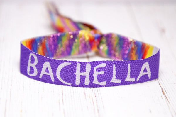 bachella coachella theme festival bachelorette party wristbands bracelets