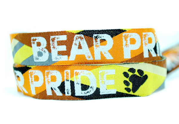 Bear Pride Wristbands - Gay Pride Bear Flag Wristband