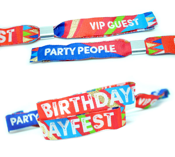 birthdayfest birthday party wristband favours