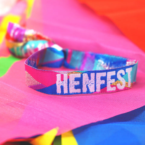 henfest festival hens party wristbands accessories