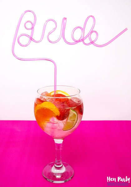bride hen party drinking straws