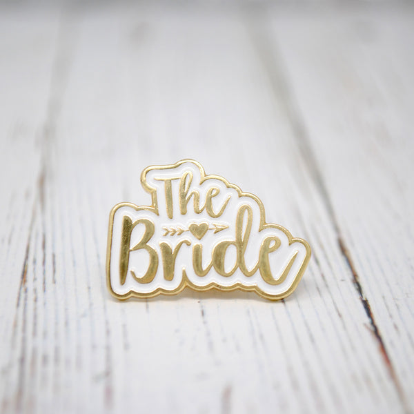 bride to be enamel pin badge wedding hen party
