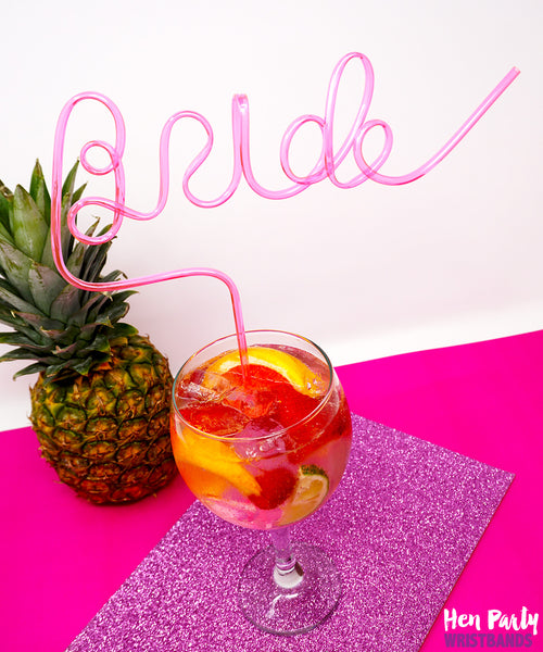 Bride Hen Party Straw