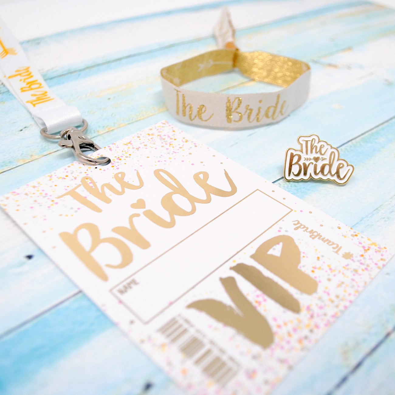bride to be hen do party accessories wristband lanyard badge