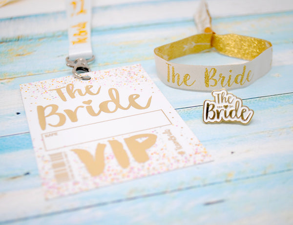bride to be hen night accessories wristband lanyard badge