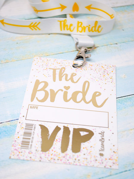 bride to be hen party vip pass lanyard